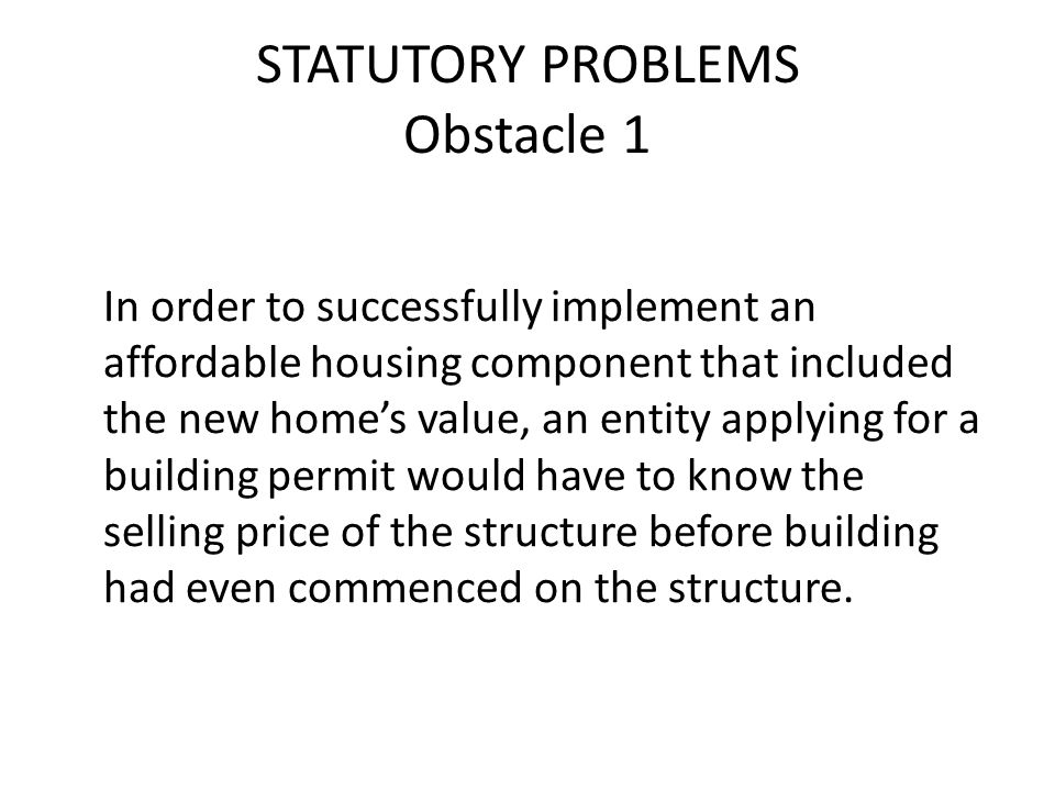 SOLUTIONS Other Possible Approaches The Commission could implement a waiver system or discounted impact fee schedule, using the affordable housing committee as a resource.