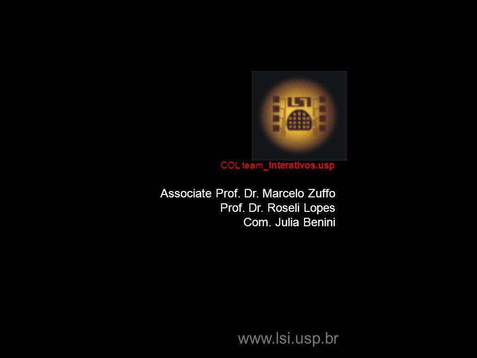 Associate Prof. Dr. Marcelo Zuffo Prof. Dr. Roseli Lopes Com.
