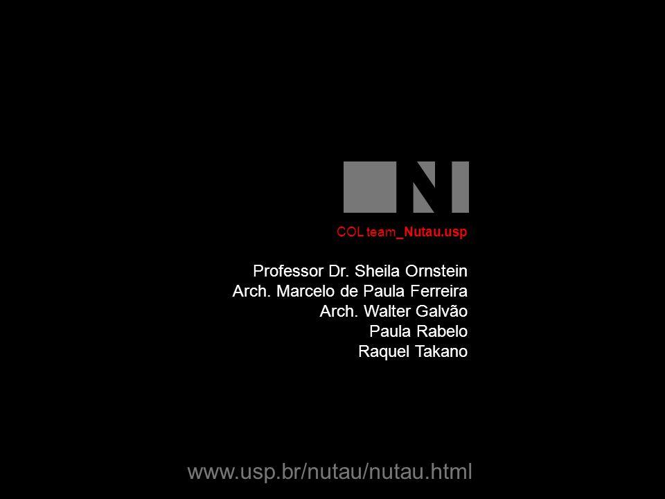 Professor Dr. Sheila Ornstein Arch. Marcelo de Paula Ferreira Arch.