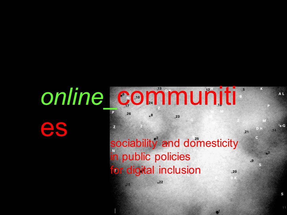 online_ communiti es sociability and domesticity in public policies for digital inclusion