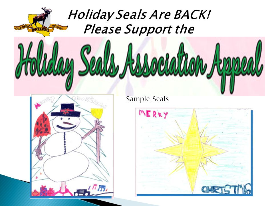 Holiday Seals Are BACK! Please Support the Sample Seals