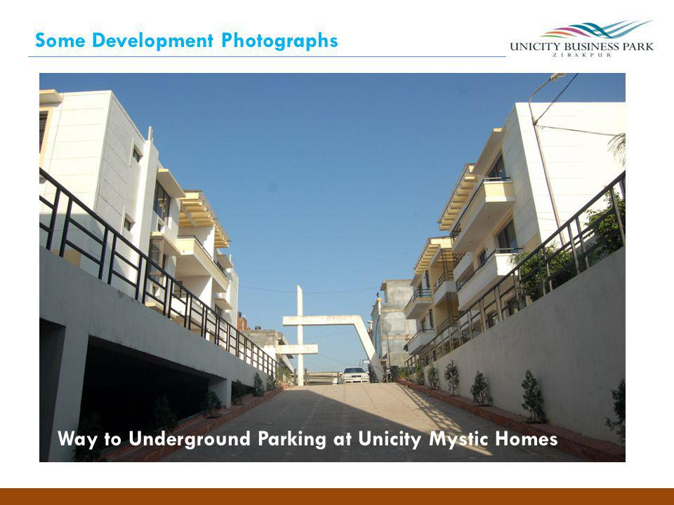 Some Development Photographs Way to Underground Parking at Unicity Mystic Homes