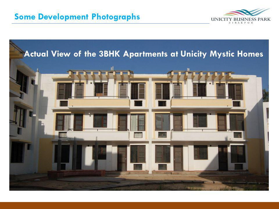 Some Development Photographs Actual View of the 3BHK Apartments at Unicity Mystic Homes