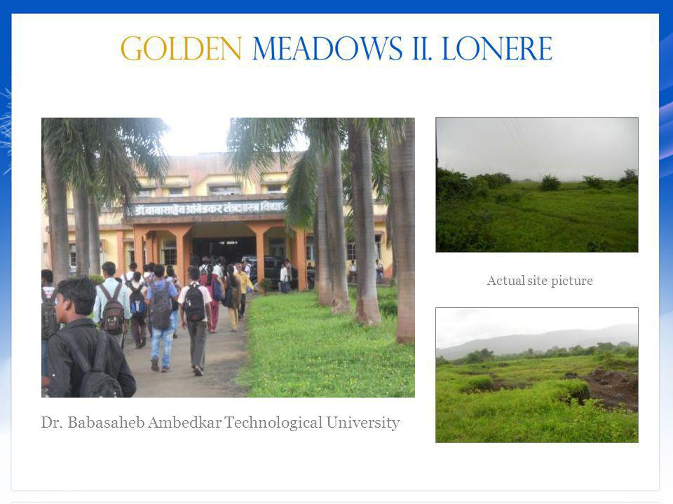 Actual site picture Dr. Babasaheb Ambedkar Technological University