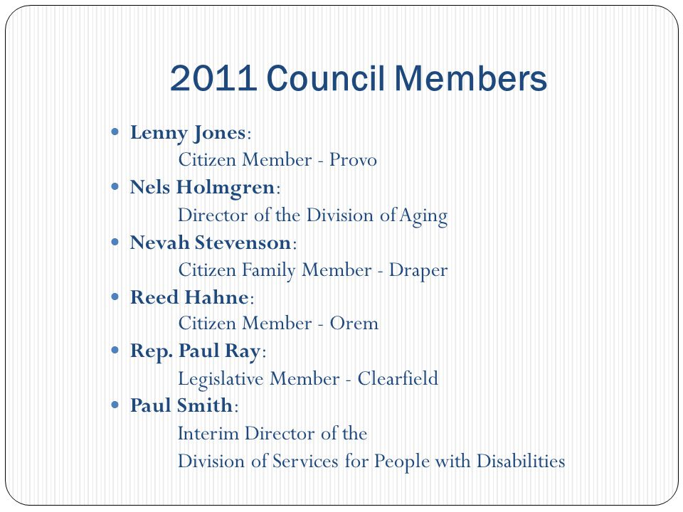 Council Funded Developing Leadership and Advocacy Skills for Family and Individuals Legal Services for the Developmentally Disabled, Inc.