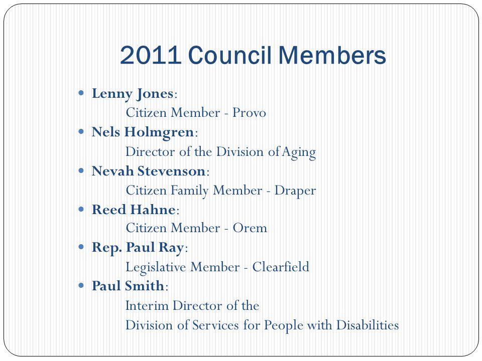 2011 Council Members Robert Bucciere: Neurobehavior H.O.M.E.