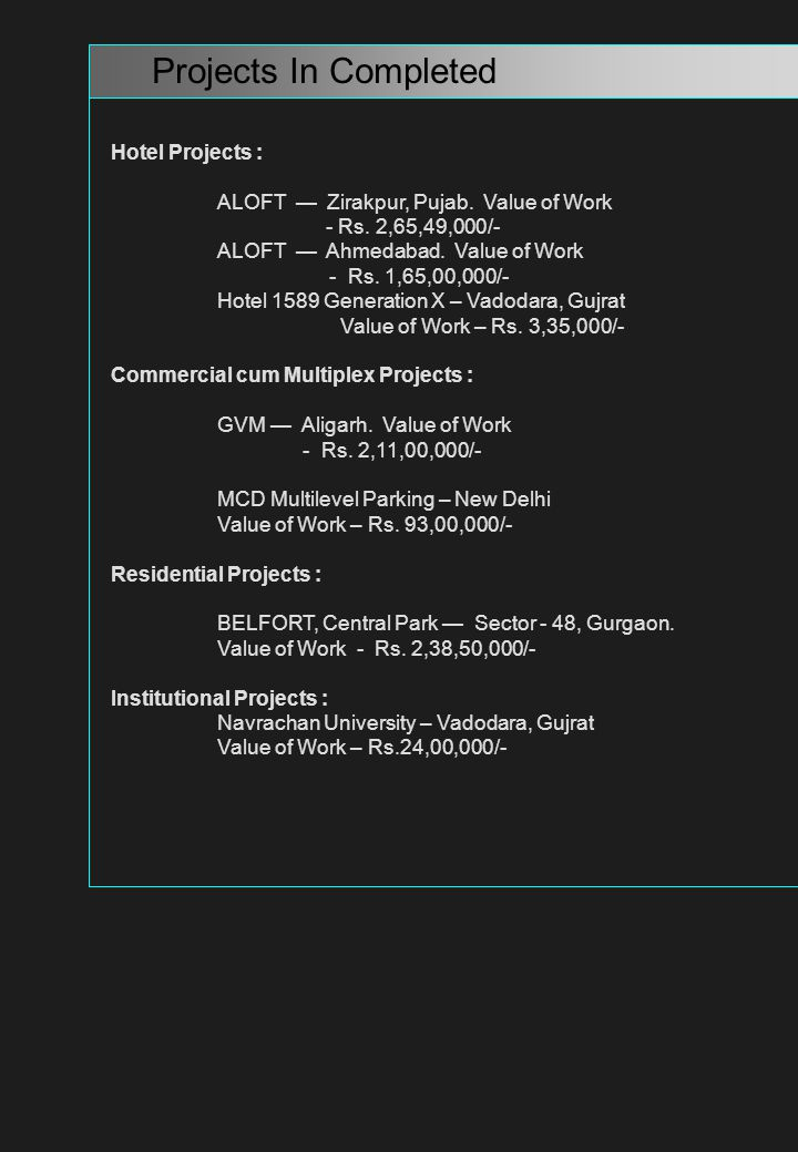 MAY FAIR SUNRISE Projects Details : Location: VADODARA Owned By:NAVRACHNA EDUCATION SOCIETY..
