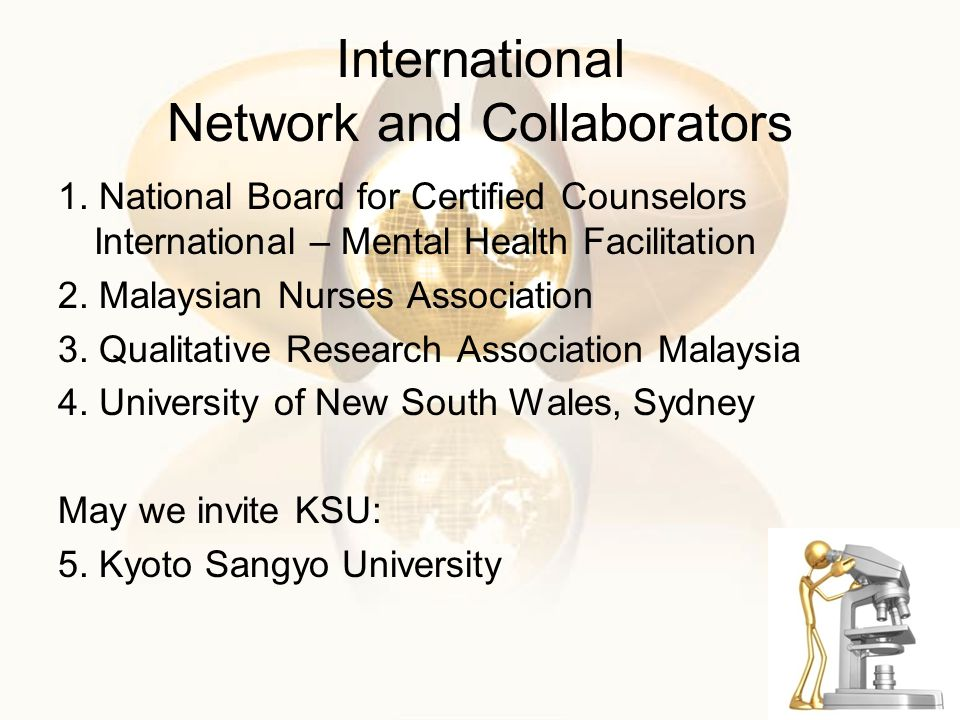 International Network and Collaborators 1.