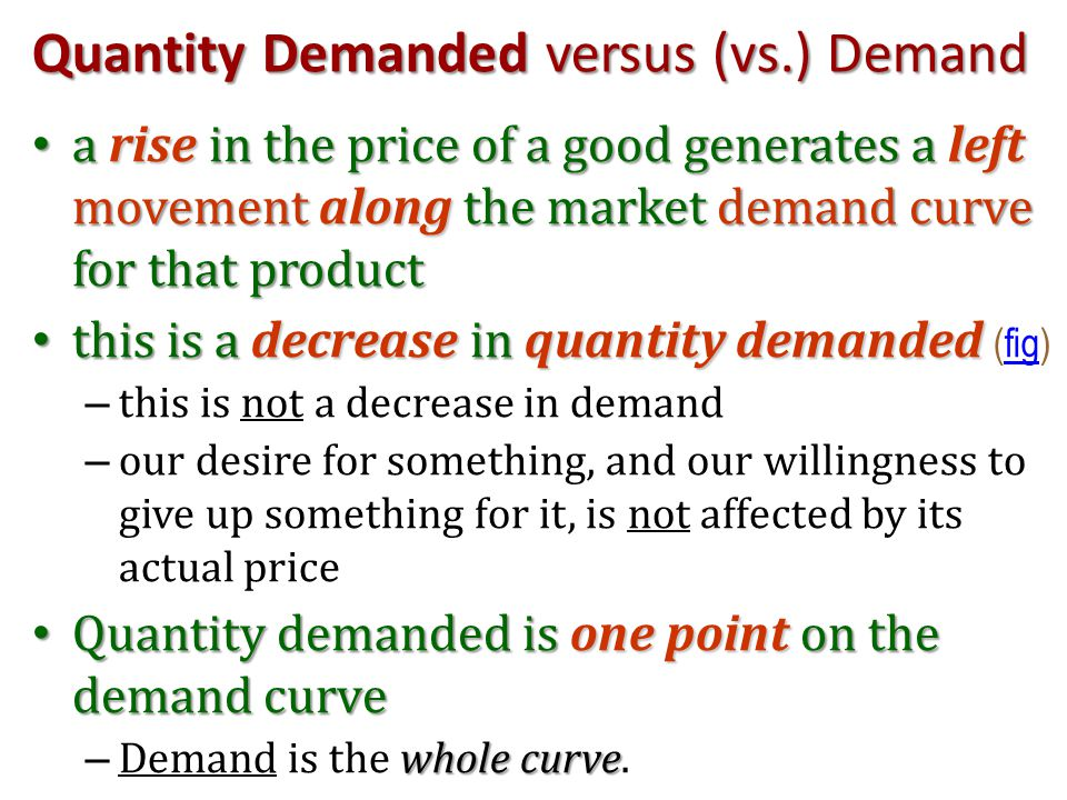 exercise on the difference between demand and quantity demanded In Carinthia and California, the people have a similar standard of living and they like apples to an equal extent.