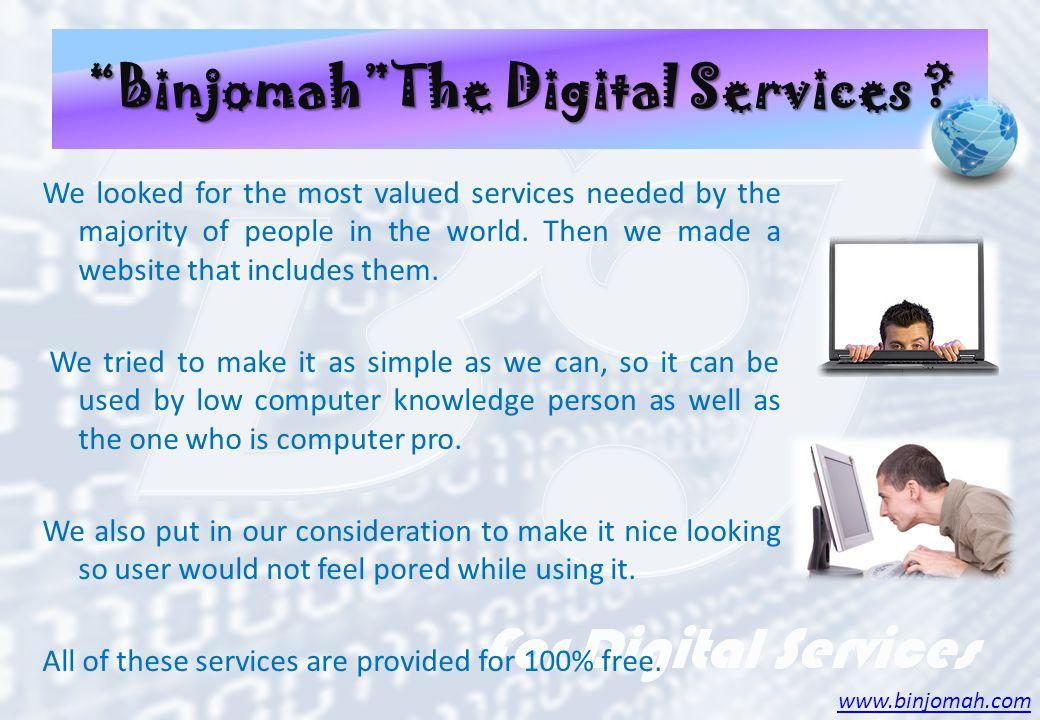 BinjomahThe Digital Services .