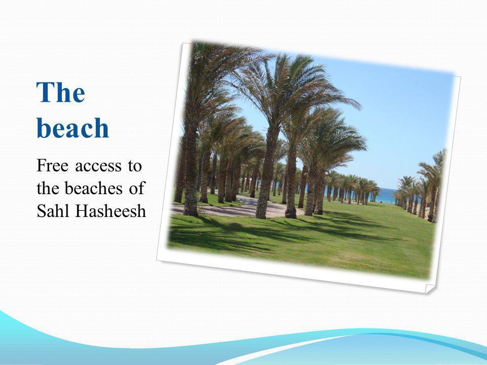 The beach Free access to the beaches of Sahl Hasheesh