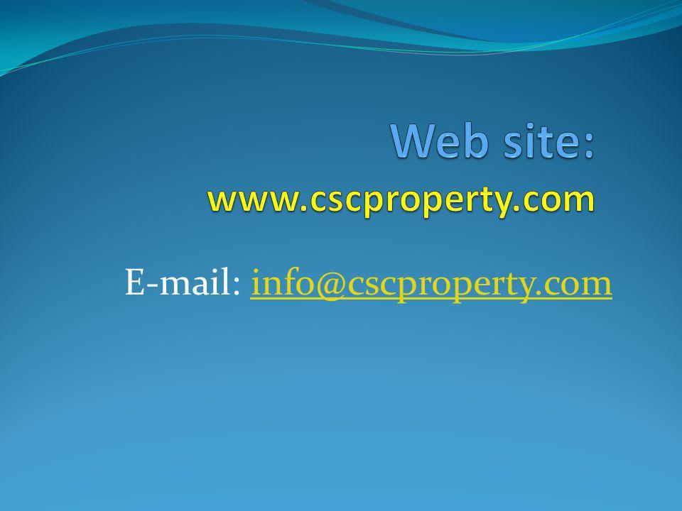 E-mail: info@cscproperty.cominfo@cscproperty.com
