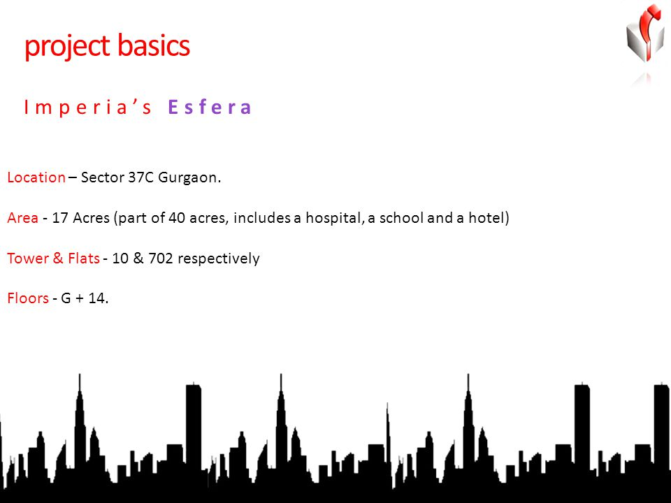 project basics Location – Sector 37C Gurgaon.