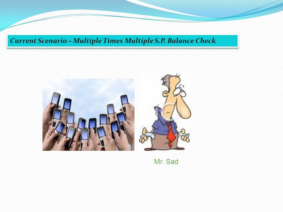Current Scenario – Multiple Times Multiple S.P. Balance Check Mr. Sad