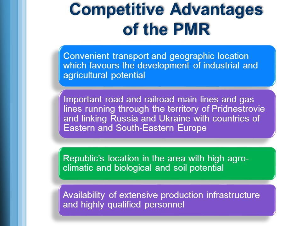 Competitive Advantages of the PMR