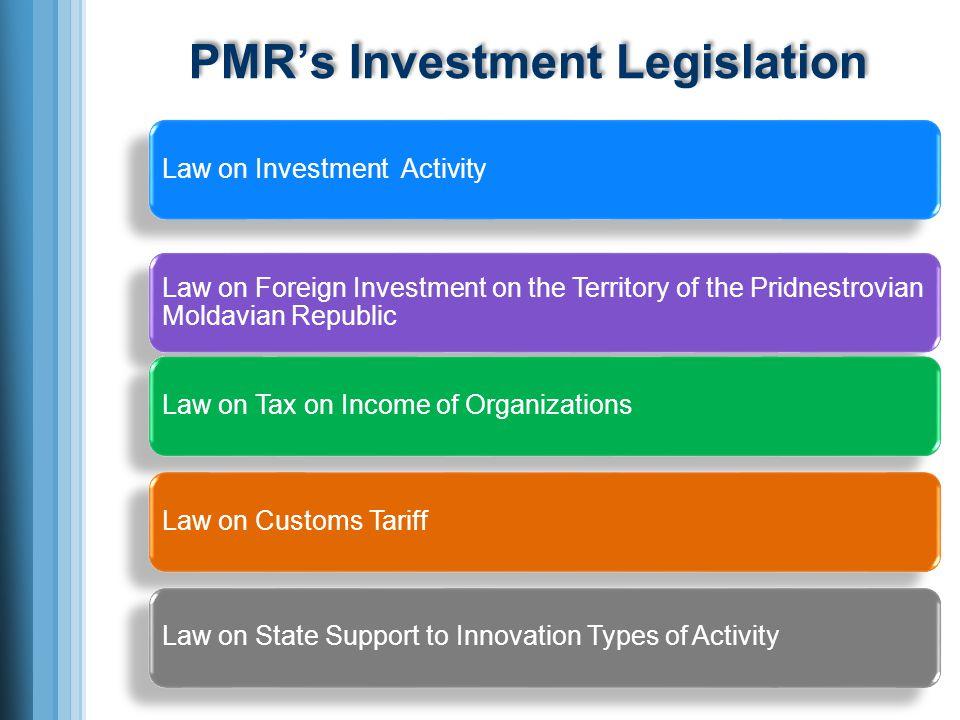 PMRs Investment Legislation