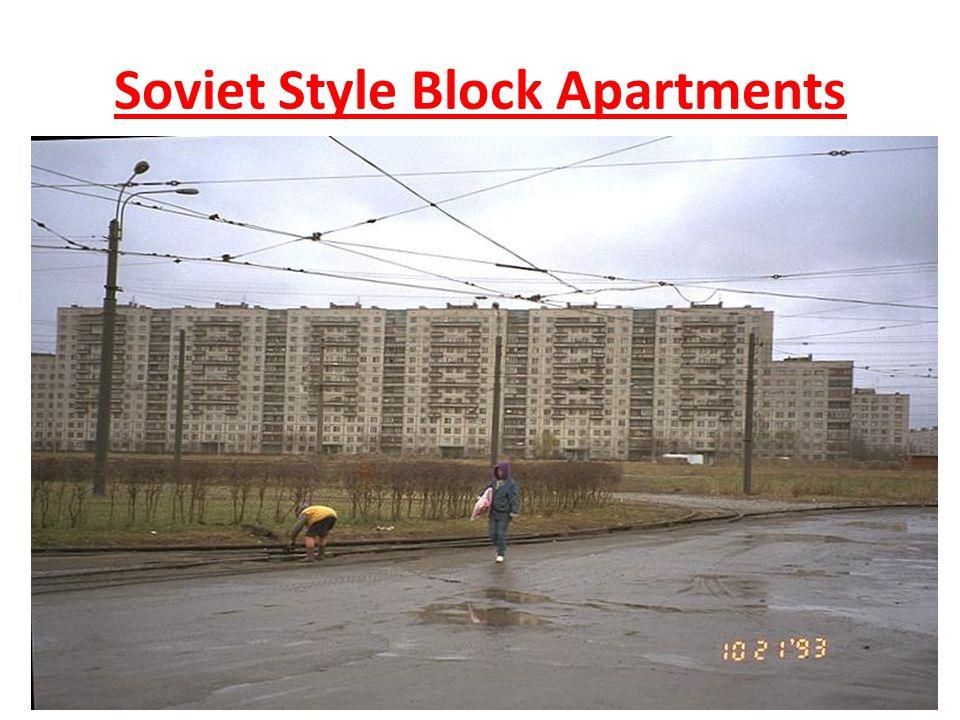 Soviet Style Block Apartments