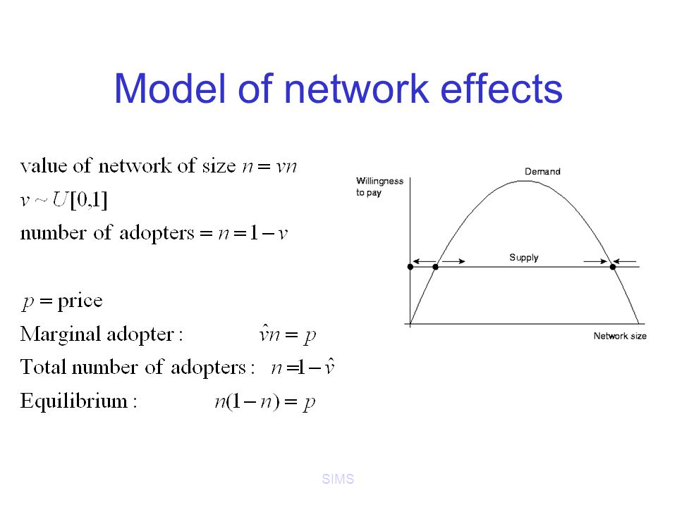 SIMS Model of network effects