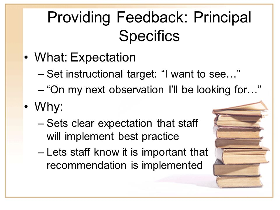 19 Practice Give feedback to your partner –Partner A – provide feedback to partner A as if partner A was the teacher who had taught the lesson (may in