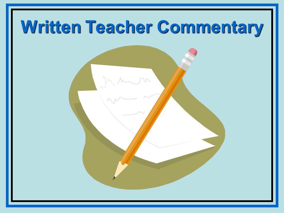 Written Teacher Commentary