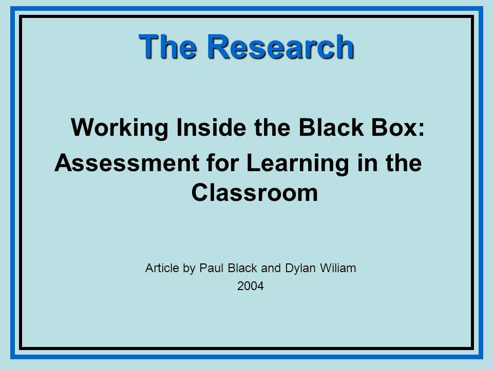 Assessment Terminology Assessment for learning Feedback Teacher Commentary Student Commentary Praise (or blame) Guidance Evaluation Grades