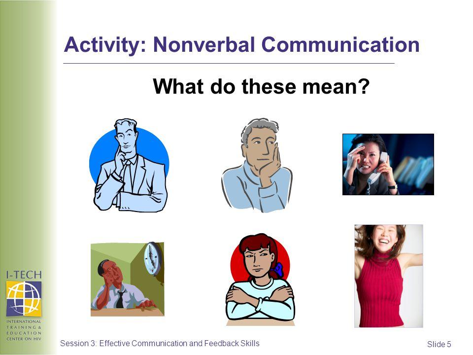 Slide 16 Session 3: Effective Communication and Feedback Skills Activity: Summarizing