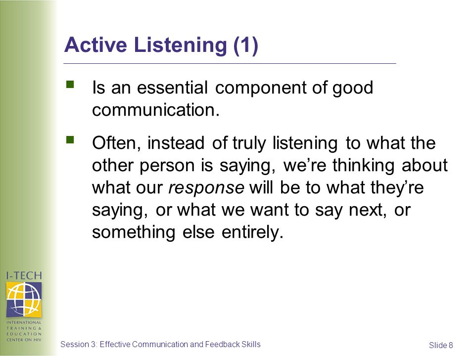 Slide 29 Session 3: Effective Communication and Feedback Skills Providing feedback: Approach #2 PITC Scenario (4)