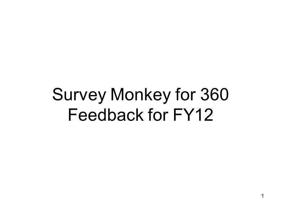 1 Survey Monkey for 360 Feedback for FY12
