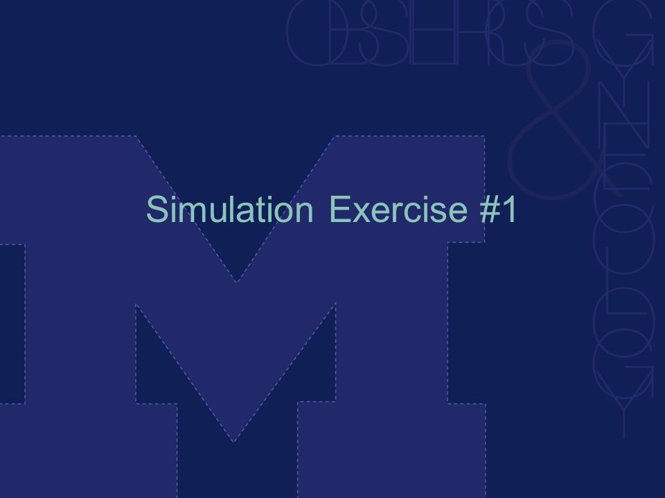 Simulation Exercise #1