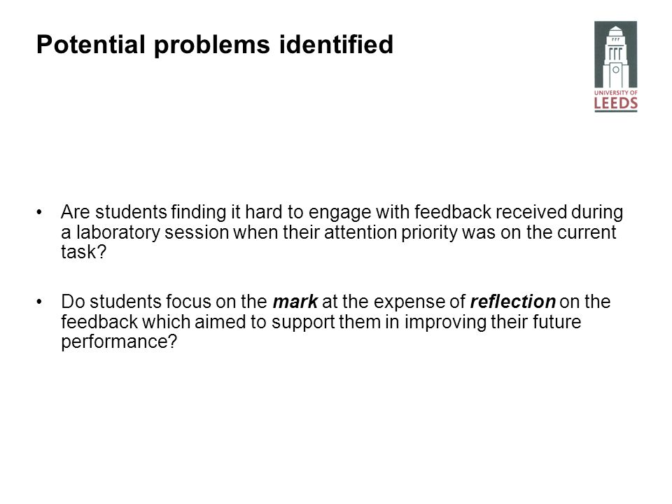 Are students finding it hard to engage with feedback received during a laboratory session when their attention priority was on the current task? Do st