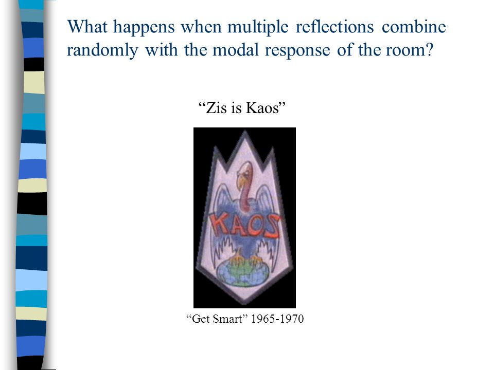 What happens when multiple reflections combine randomly with the modal response of the room.
