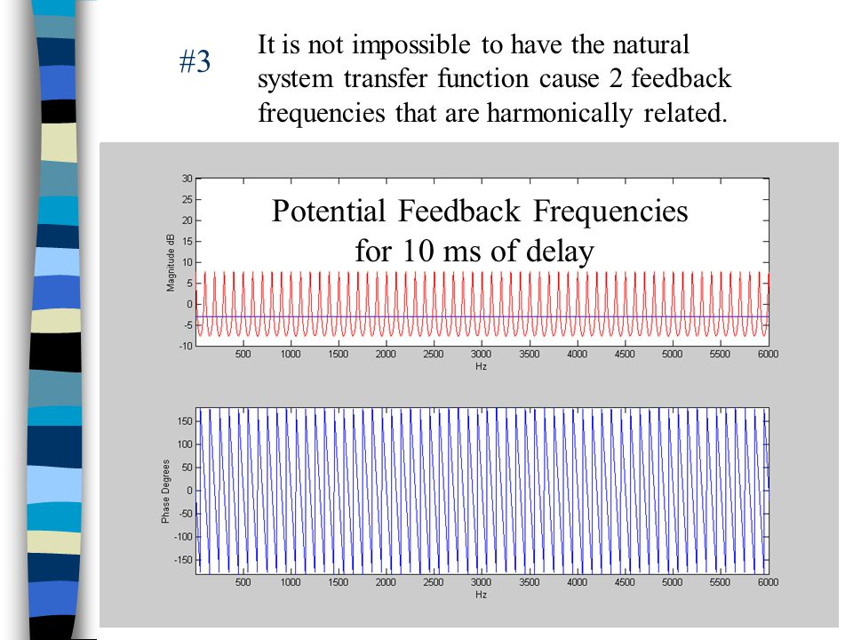 It is not impossible to have the natural system transfer function cause 2 feedback frequencies that are harmonically related.