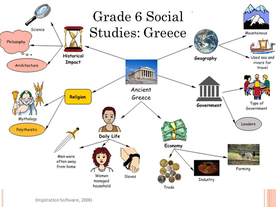 17 (Inspiration Software, 2008) Grade 6 Social Studies: Greece