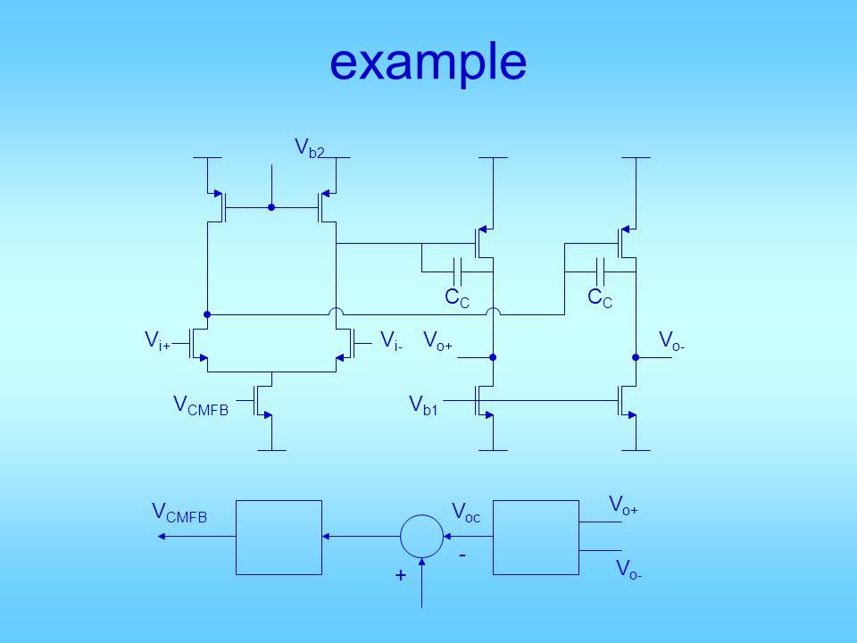 example V b2 V i+ V i- V CMFB V b1 CC V o+ V o- + - V o+ V o- V oc V CMFB