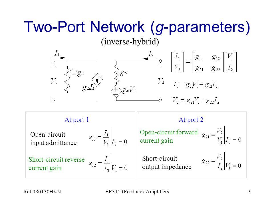 Ref:080130HKNEE3110 Feedback Amplifiers36 Two Port Network