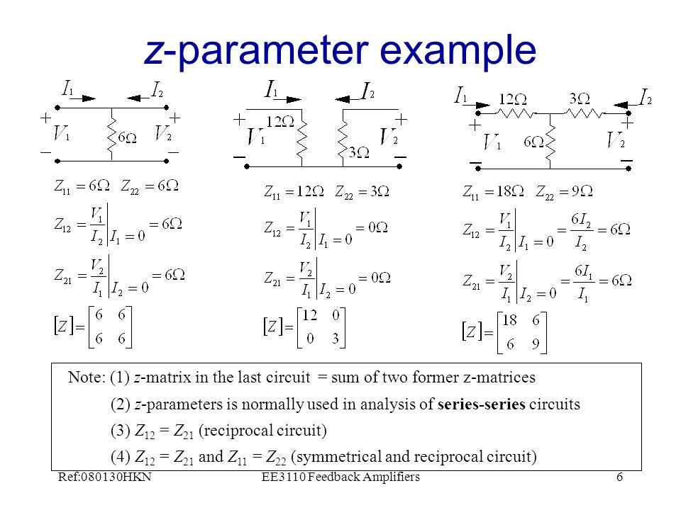 Ref:080130HKNEE3110 Feedback Amplifiers7 y-parameter example