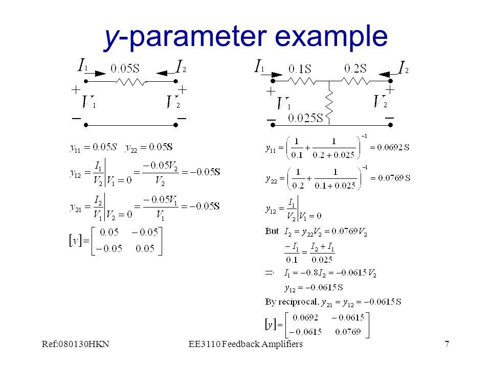Ref:080130HKNEE3110 Feedback Amplifiers18 h-parameter analysis 1