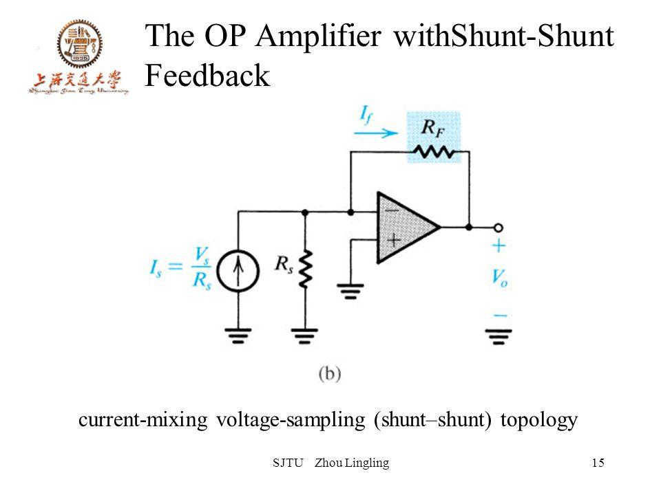 SJTU Zhou Lingling15 The OP Amplifier withShunt-Shunt Feedback current-mixing voltage-sampling (shunt–shunt) topology