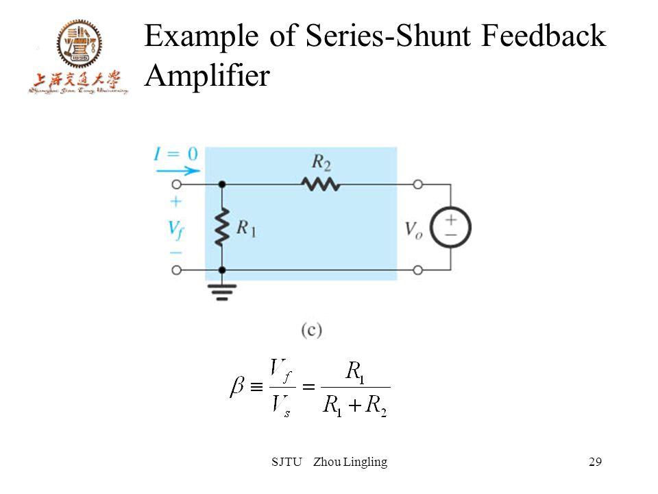 SJTU Zhou Lingling29 Example of Series-Shunt Feedback Amplifier