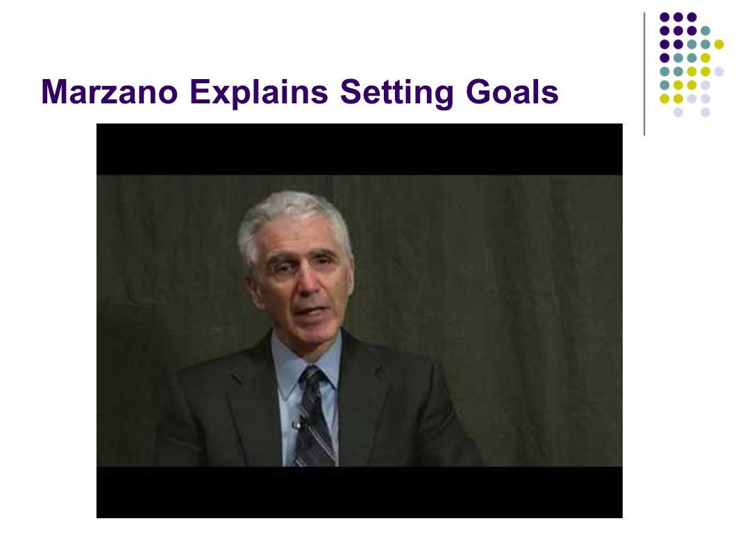 Marzano Explains Setting Goals http://youtu.be/2A6ulEwJFMs