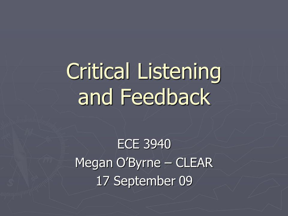 How to Listen Critically Be quiet Be quiet Be focused Be focused Listen for concepts and ideas Listen for concepts and ideas What are the main points What are the main points What is NOT said What is NOT said Organize what you hear Organize what you hear Make connections Make connections Listen for patterns, transitions Listen for patterns, transitions Evaluate Evaluate Evaluate evidence carefully Evaluate evidence carefully