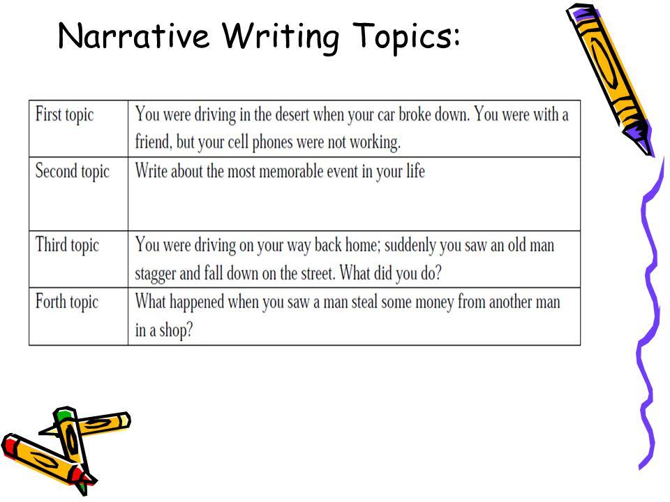 Narrative Writing Topics: