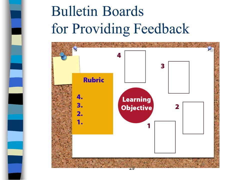 29 Bulletin Boards for Providing Feedback