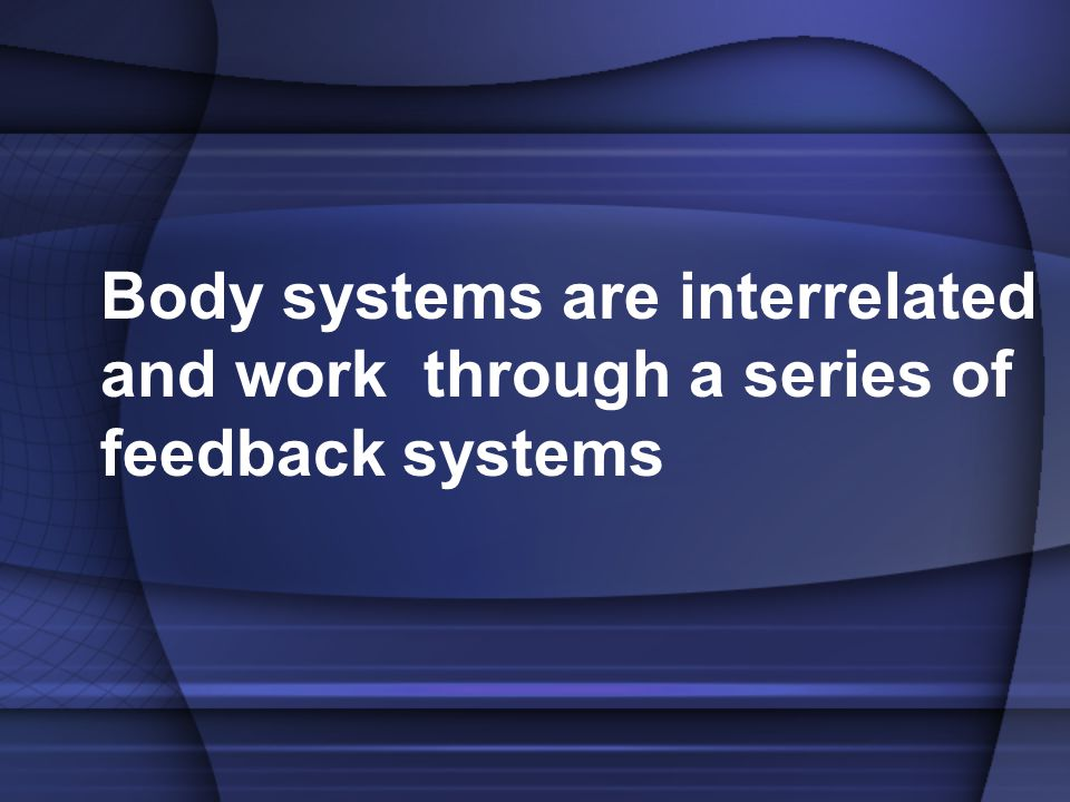 Body systems are interrelated and work through a series of feedback systems