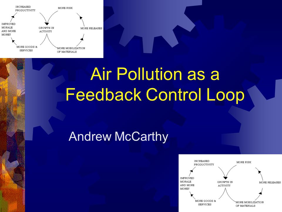 Introduction Air Pollution Feedback Control Purpose and Components of Feedback Examples of Feedback Components of Air Pollution Feedback Control