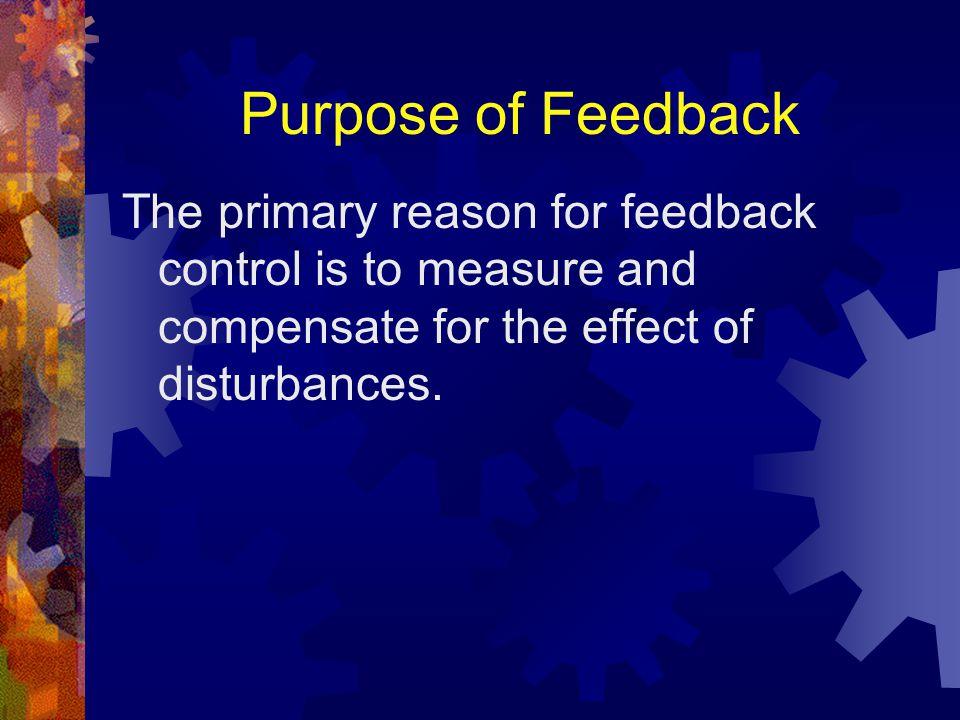 4 Elements of Feedback Sensor Reference Input Comparator Control Mechanism www.oz.net/~coilgun/levitation/feedbackloop.htm