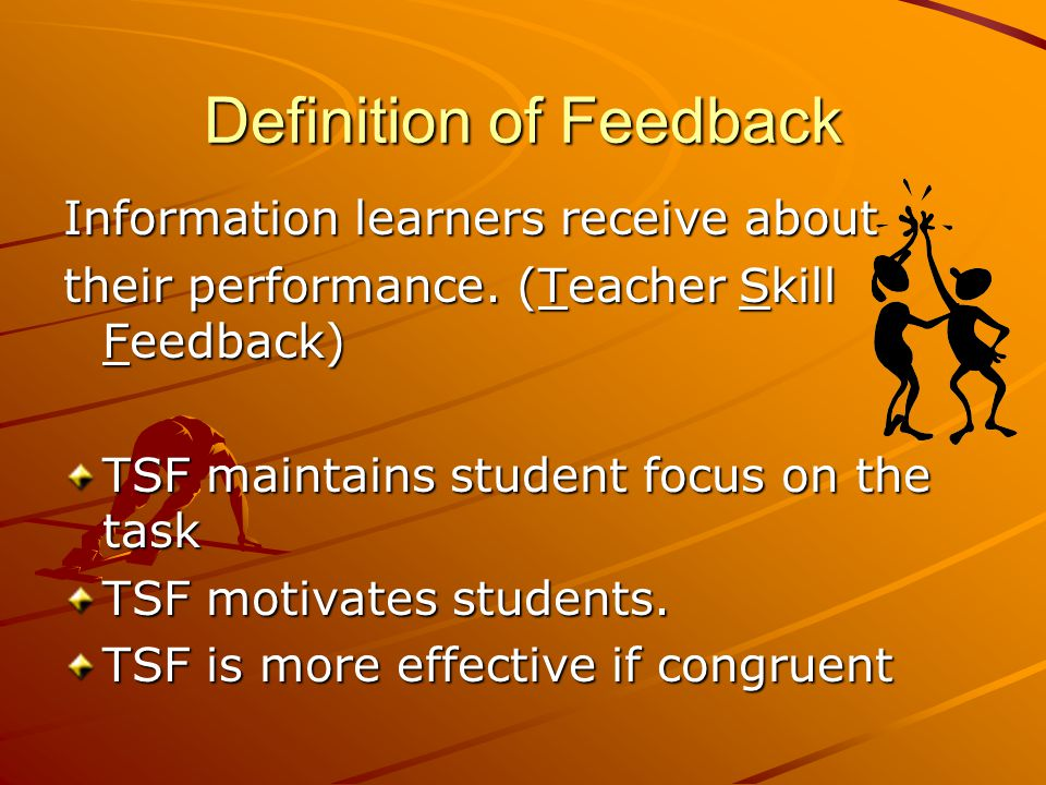 TEACHER SKILL FEEDBACK (TSF)