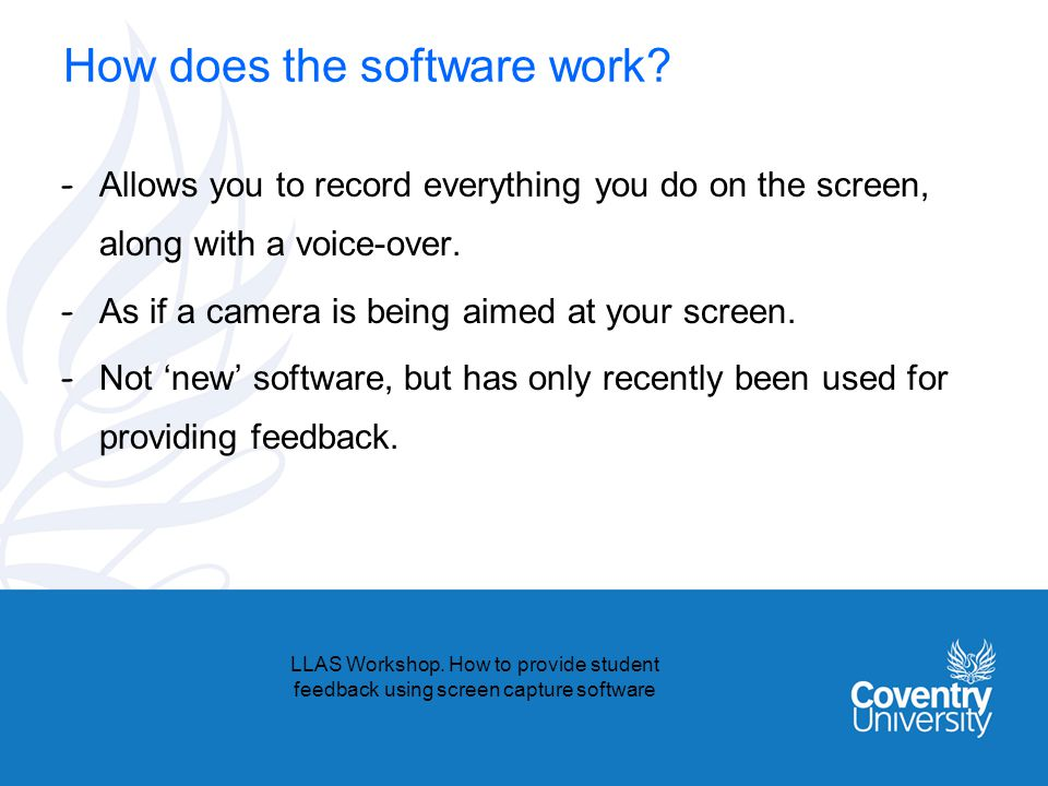 How does the software work.