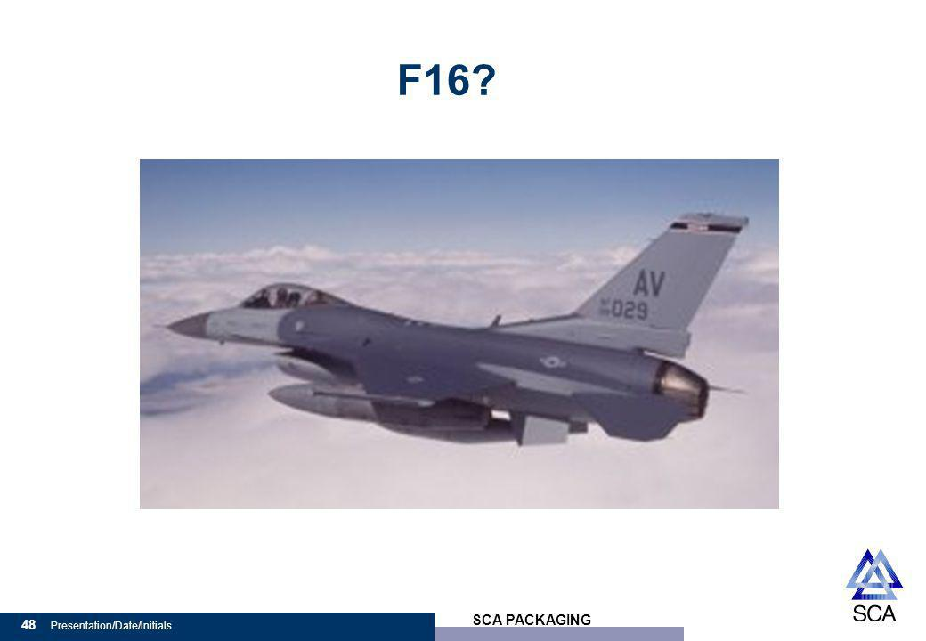 SCA PACKAGING 48 Presentation/Date/Initials F16