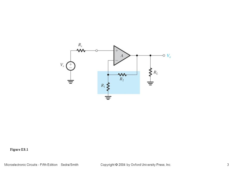 Microelectronic Circuits - Fifth Edition Sedra/Smith3 Copyright 2004 by Oxford University Press, Inc. Figure E8.1